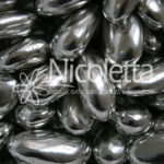 Silver candy coated almonds