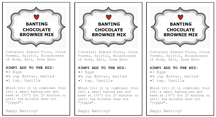 brownie mix tags