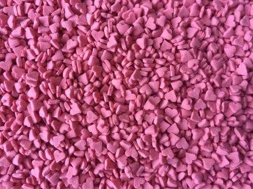 Cake Confetti Mini Red Hearts